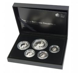 2013 Silver Proof Britannia 5 Coin Set